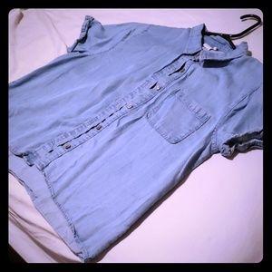 Tops - Blue denim shirt